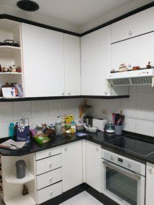 Vista de la cocina a reformar
