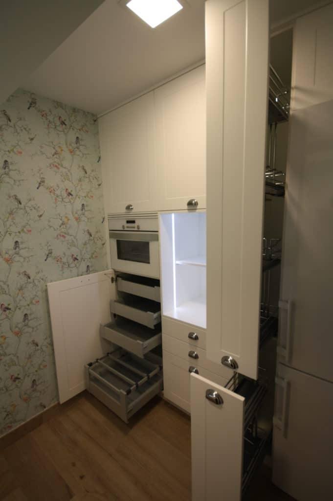 Visión general de mobiliario de cocina.