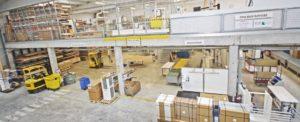 Vista de la fábrica de cocinas y baños Jocar